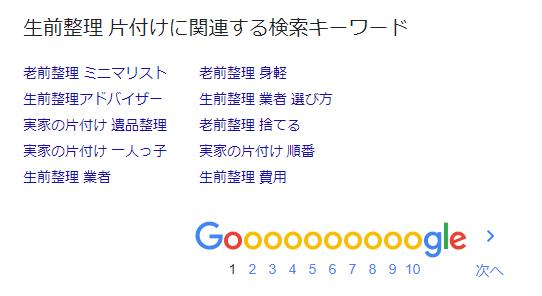 「生前整理 片付け」の関連する検索キーワード